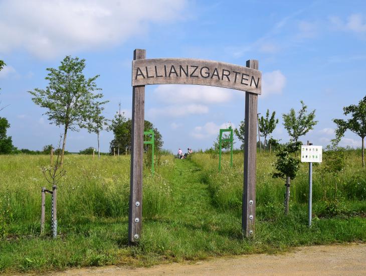 Der Allianzgarten bei Rodheim ist Sinnbild für die Kooperation der 13 Gemeinden in der Kommunalen Allianz A7 Franken West (Foto: G. Krämer)