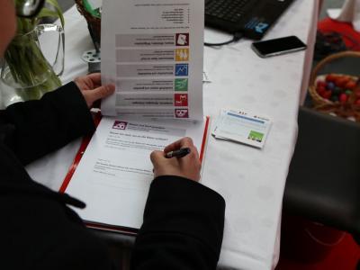 Auf der Gewerbe- und Regionalschau wurden die Burheimer über die Online-Befragung informiert (Foto Markt Burgheim)