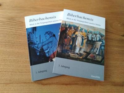 """Der erste und dritte Band der Zeitschrift """"Biberbachensis"""""""